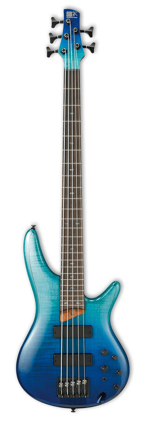 Ibanez SR875-BRG 5 String Electric Bass - Blue Reef Gradation