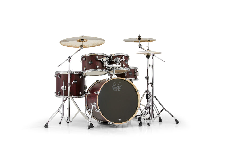 Mapex Mars Series 5-Piece Fusion Shell Pack Bloodwood With Chrome Hardware