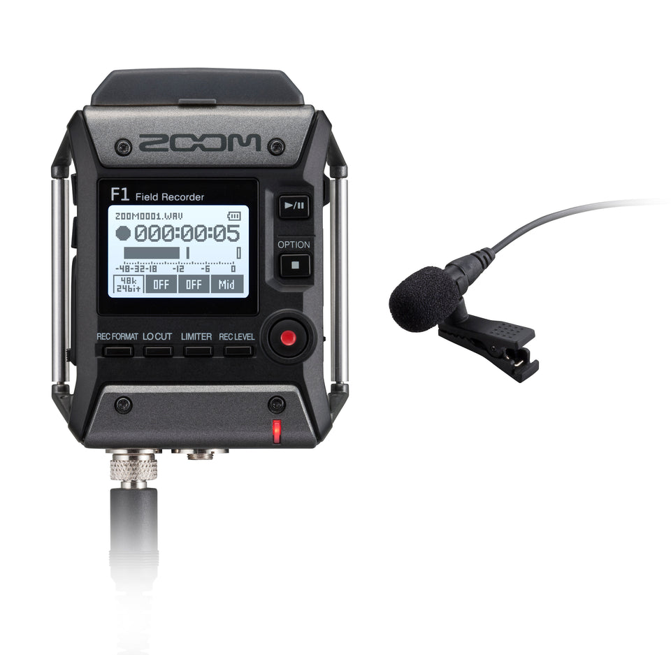 Zoom F1-LP Field Recorder + Lavalier Microphone