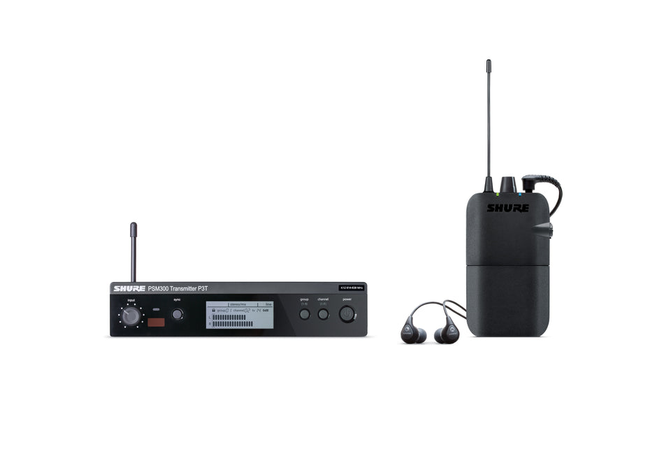 Shure PSM300 Stereo Personal In Ear Monitor System W/SE112