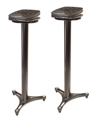 Ultimate Support MS-100B Pair Column Studio Monitor Stands