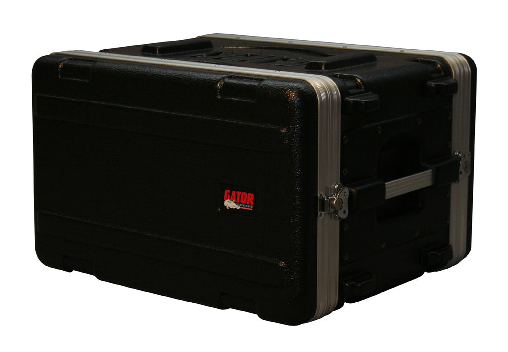 "Gator Cases GR-6SMolded PE Rack Case With Front And Rear Rails 6U x 14.25"" Deep"