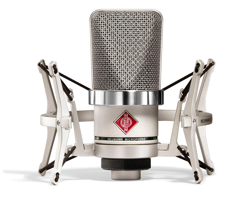 Neumann TLM 102 Studio Set Cardioid Condenser Microphone With EA4 Mount And Carton - Nickel
