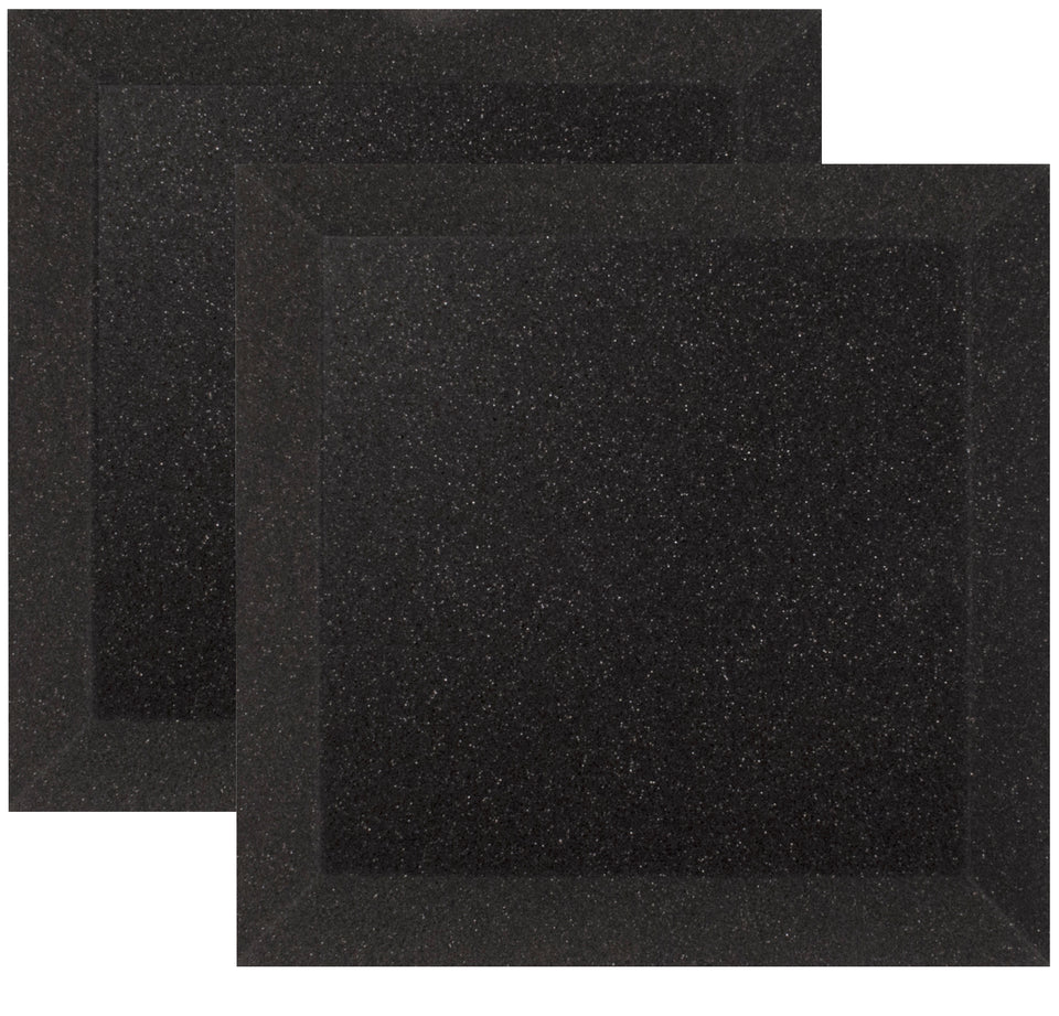 "Ultimate Support UA-WPB-12 Bevel-style Absorption Panel Professional Studio Foam - 12""x12""x2"" (Pair)"