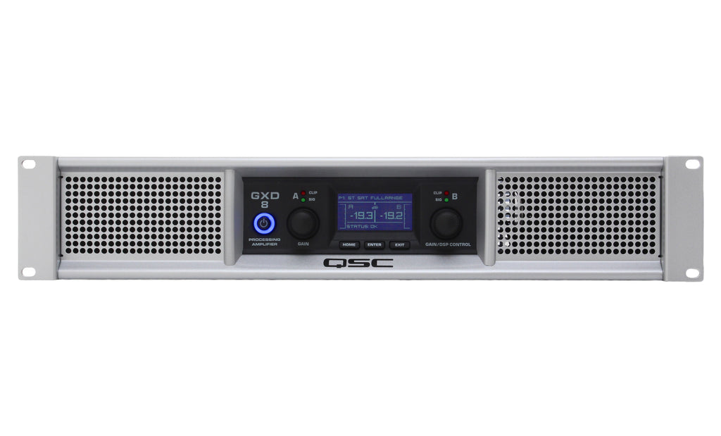 QSC GXD8 4500 Watt Processing Amplifier