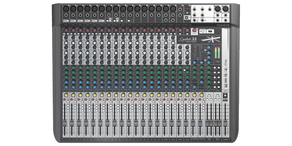 Soundcraft Signature 22MTK Compact Analogue Mixer