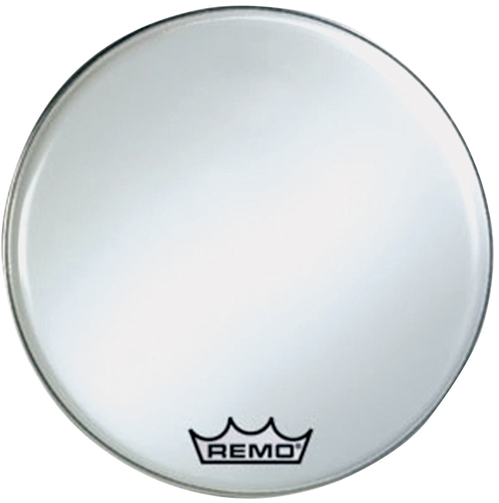 "Remo 30"" Smooth White Crimplock Ambassador Marching Bass Drum Head"