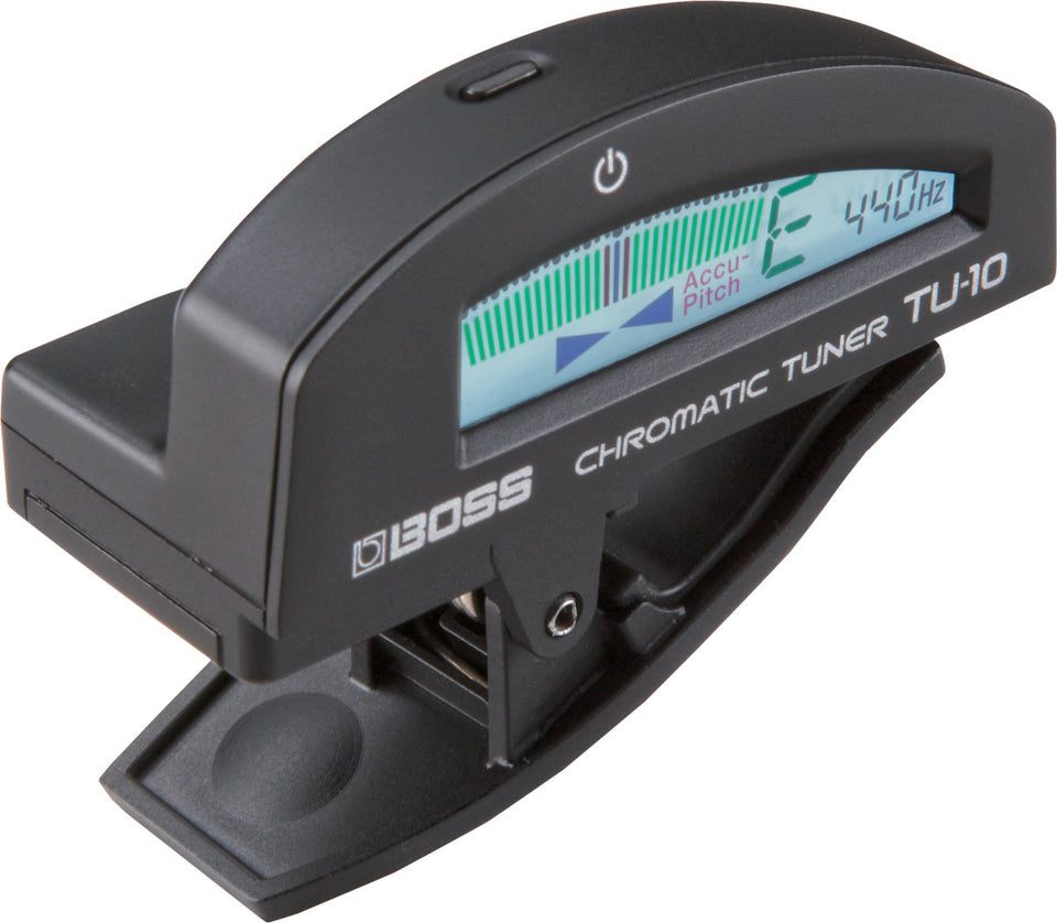 Boss TU-10-BK TU-10 Clip-On Chromatic Tuner BLACK
