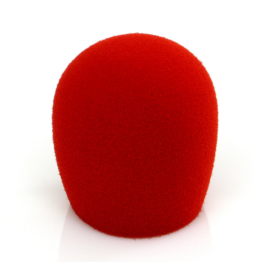 Shure A58WS-RED Windscreen For Shure SM58 And Most Ball Style Microphones