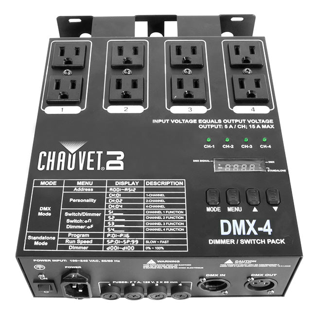 CHAUVET DMX-4 4 Channel Dimmer Relay Pack