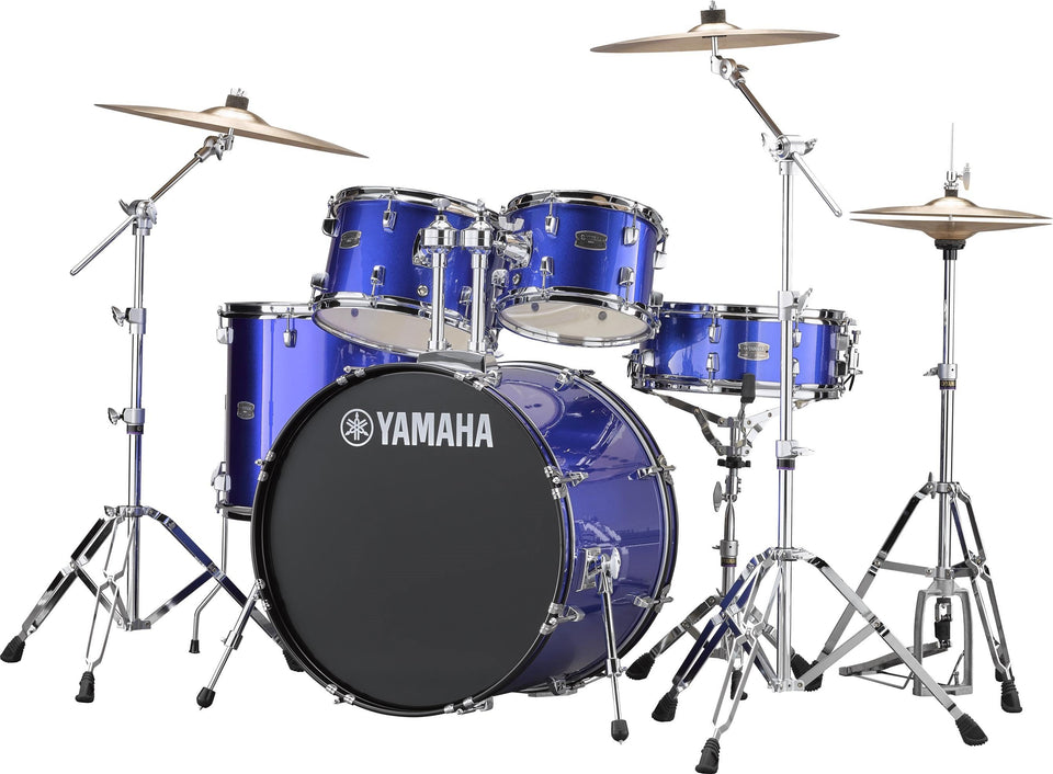 "Yamaha Rydeen 22"" Kick 5 Piece Shell Pack w/ Hardware And Cymbals - Fine Blue"