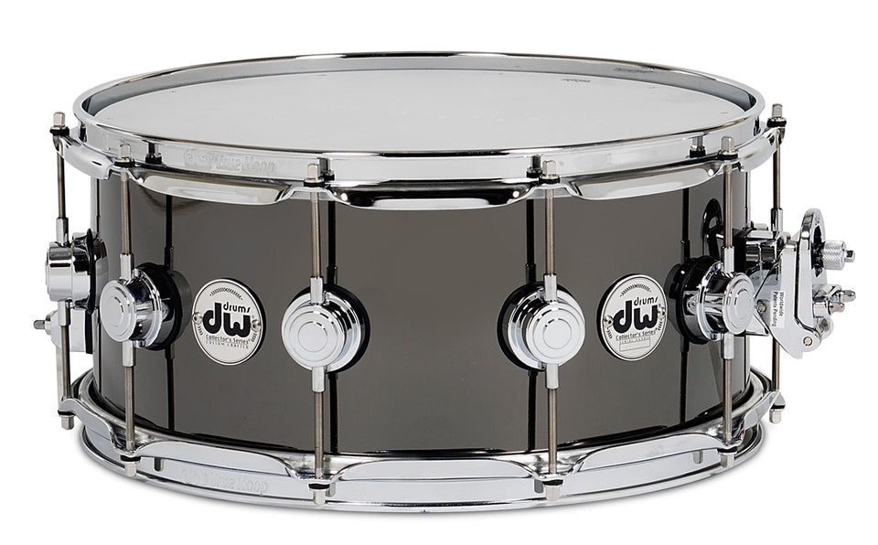 "Drum Workshop 14"" x 6.5"" Collectors Series Black Nickel Over Brass Snare Drum W/ Chrome Hardware"