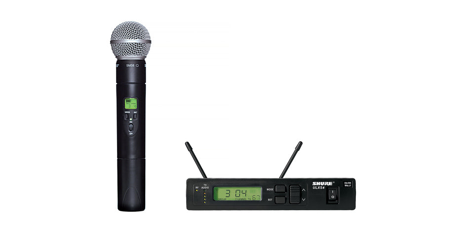 Shure ULXS24/58 Handheld Wireless System W/ SM58 Microphone