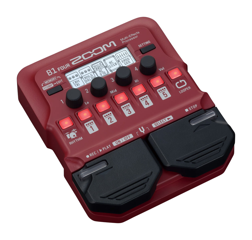 Zoom B1 Four Multi-Effects Bass Pedal
