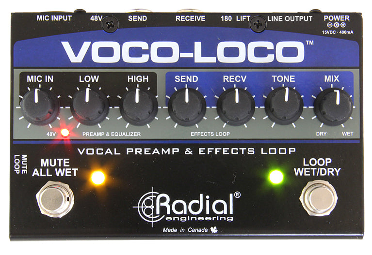 Radial Engineering Voco-Loco Effects Switcher Pedal For Voice Or Instrument