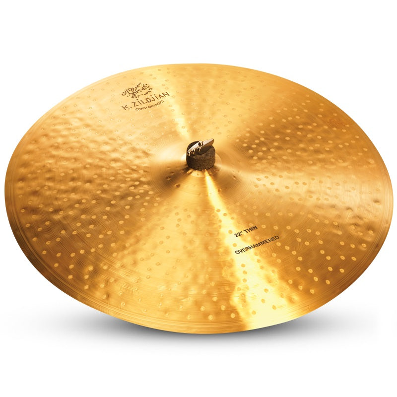 "Zildjian 22"" K Constantinople Thin Ride Cymbal - Overhammered"