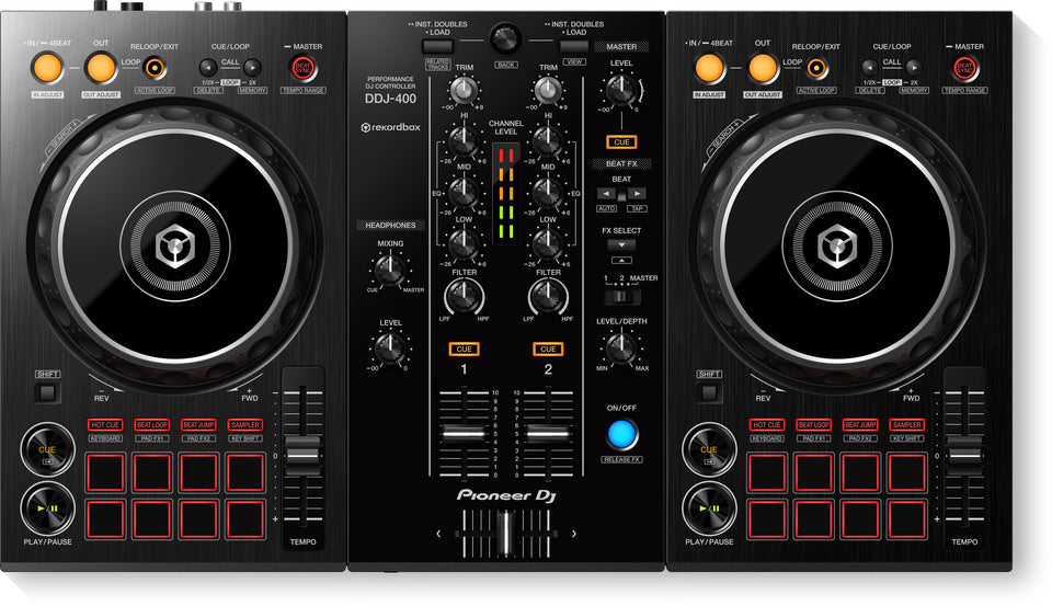 Pioneer DJ DDJ-400 2 Channel DJ Controller For Reokrdbox