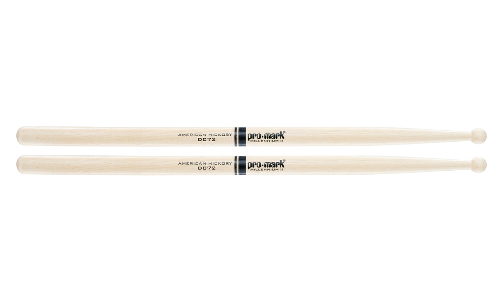 Promark TXDC72W Hickory DC72 Wood Tip drumstick