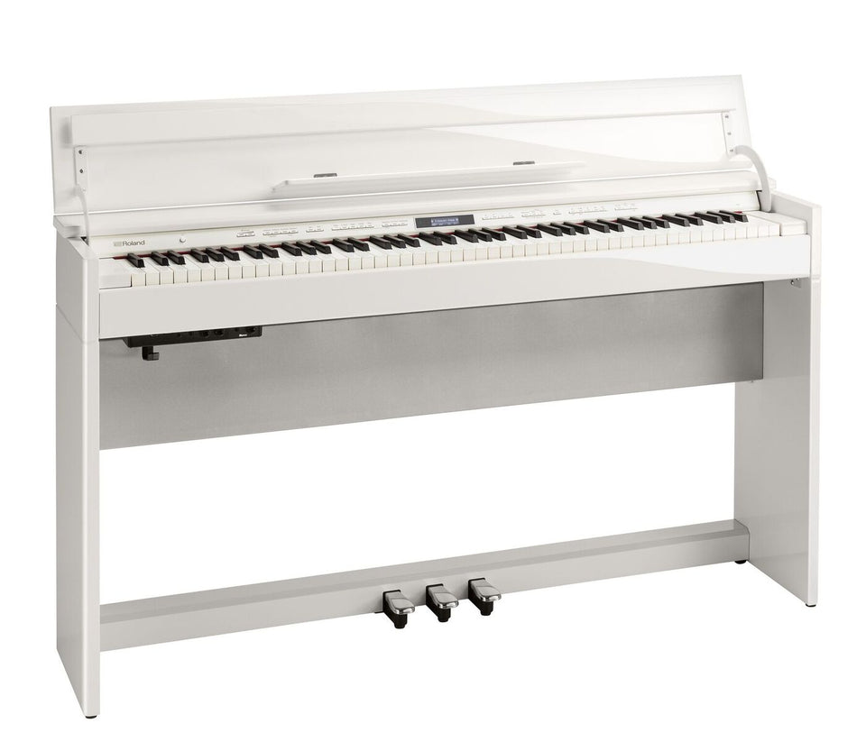 Roland DP-603 Home Piano W/ PB-500PWDPK2 Bench - Polished White Classic