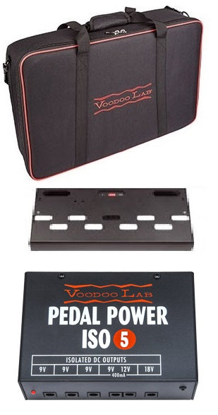 Voodoo Lab Dingbat Small Power Package with Pedal Power ISO-5 Pedalboard w//Bag