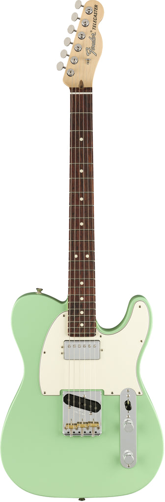 Fender American Performer Telecaster Hum Electric Guitar - Satin Surf Green