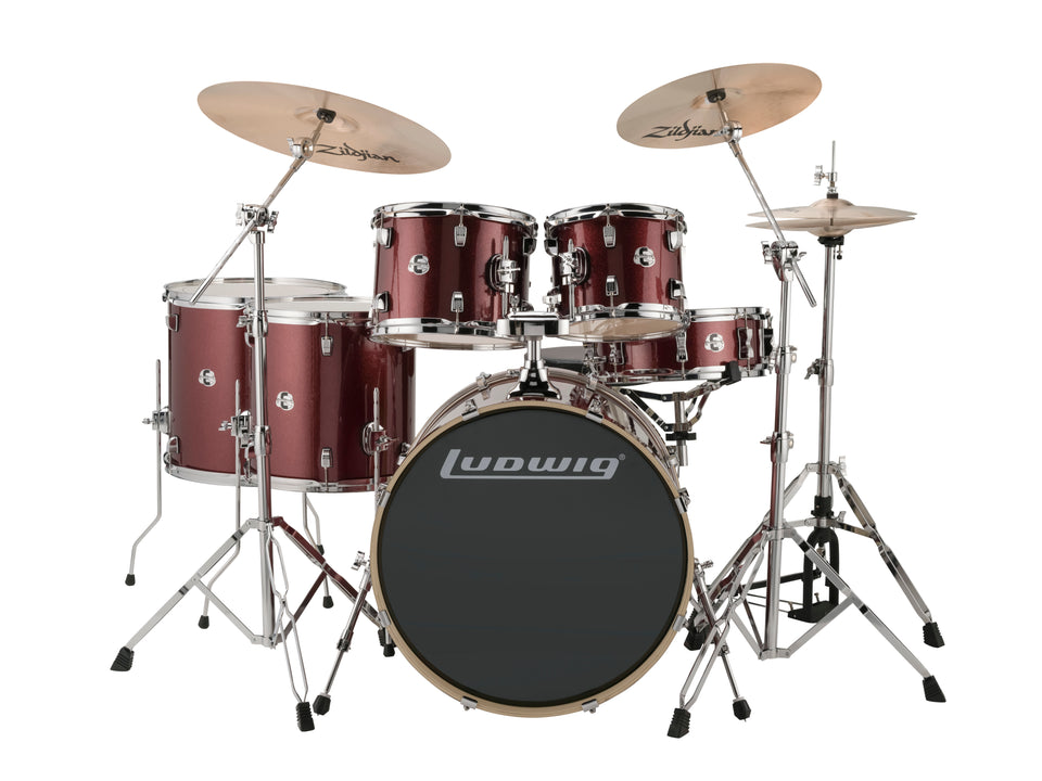 Ludwig Element Evolution 6 Piece Drum Set - Wine Red Sparkle