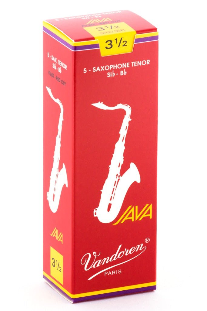 Vandoren Java Red Tenor Sax Reeds, #3.5 - Box of 5