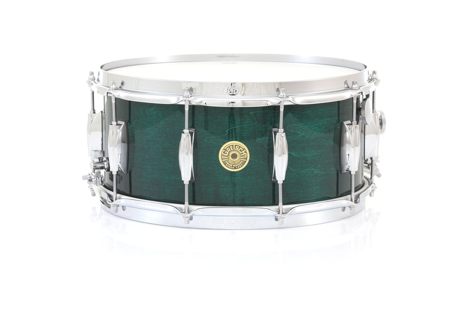 "Gretsch 14"" x 6.5"" Broadkaster Snare Drum - Caribbean Blue Gloss, Micro Sensitive, Internal Muffler"