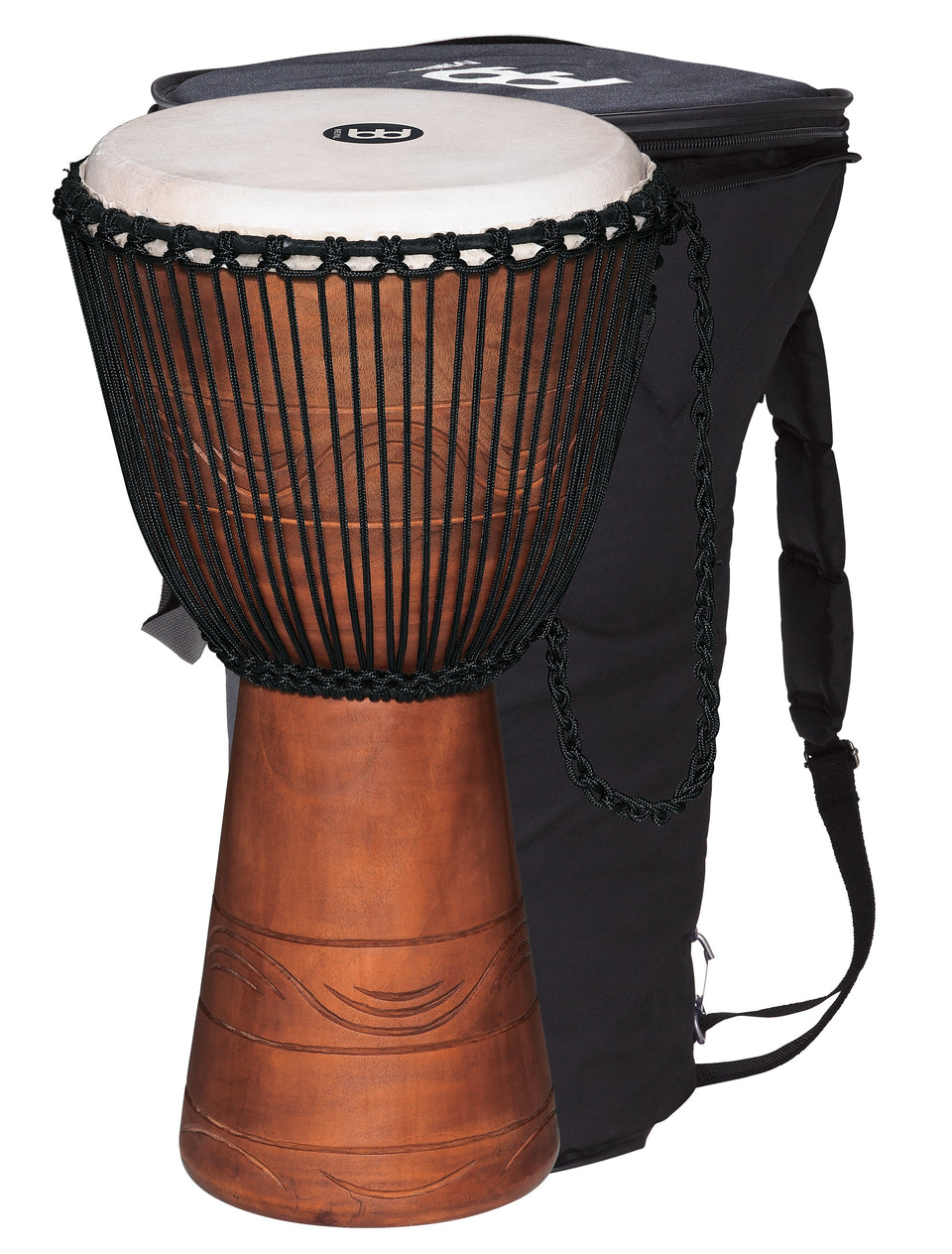 "Meinl ADJ2-XL BAG Original African Style Rope Tuned Wood Djembe 13"" + Bag"