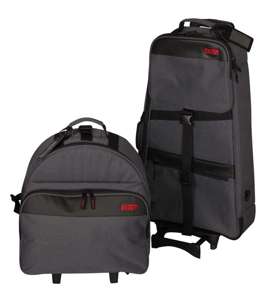 Gator GP-SNRBELL KIT-A Updated Snare/Bell Kit Backpack With Removable Snare Bag And Rolling Cart