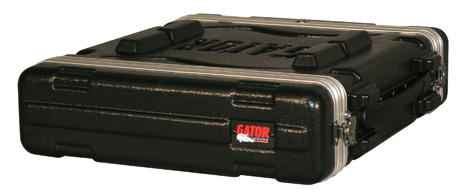 "Gator GR-2S Molded PE Rack Case With Front And Rear Rails 2U x 14.25"" Deep"