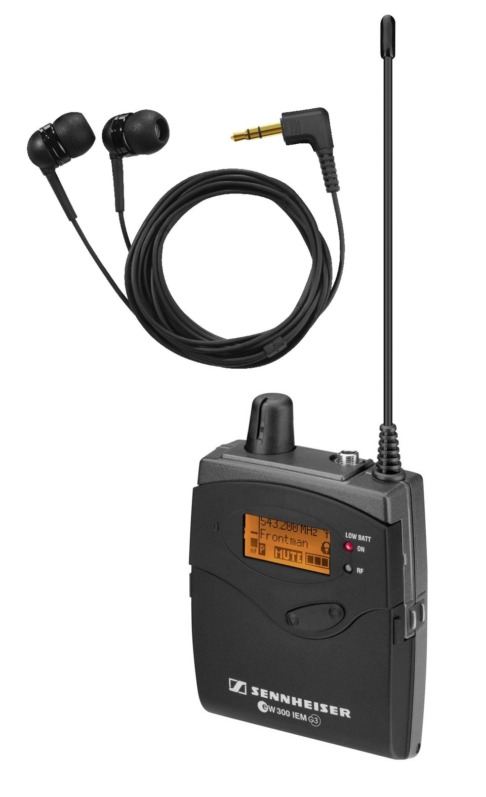 Sennheiser EK300IEM-G3-A1 Receiver Pack With Earbuds For EW300 IEM In-Ear Monitor Systems