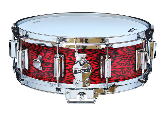 "Rogers 14"" x 5"" Dyna-Sonic Classic Snare Drum w/ Beavertail Lugs - Red Onyx"