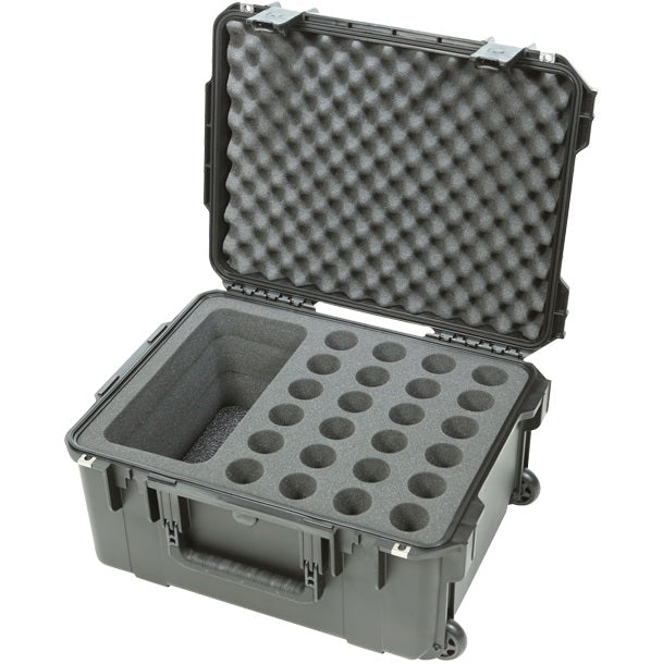 SKB 3I-2015-MC24 iSeries Waterproof 24-Microphone Case W/ Wheels
