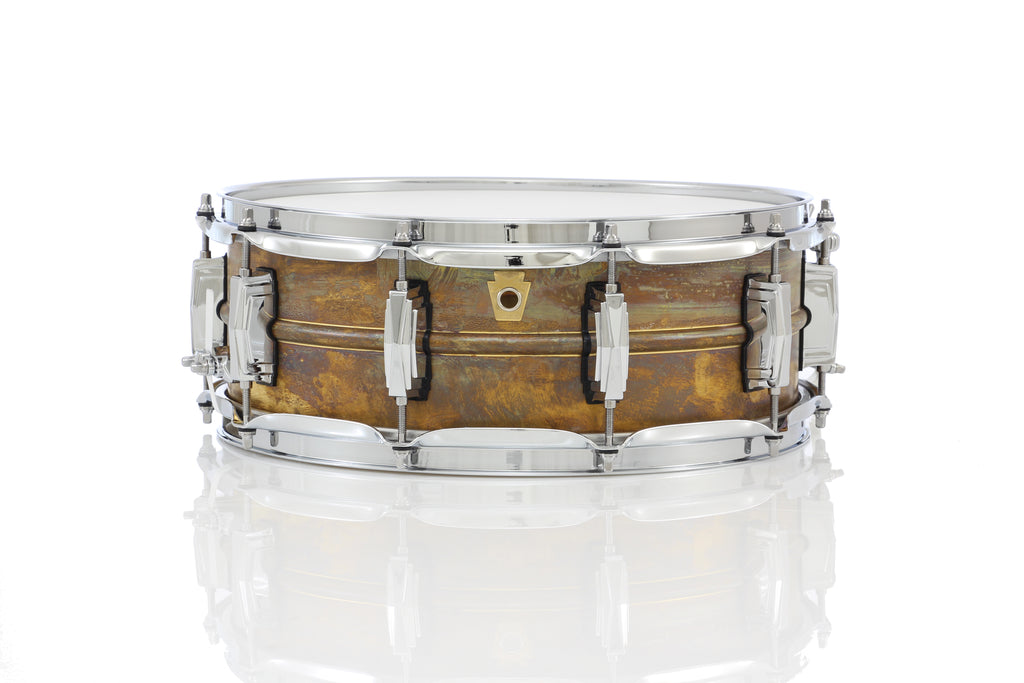 "Ludwig 14"" x 5"" Raw Brass Snare Drum"