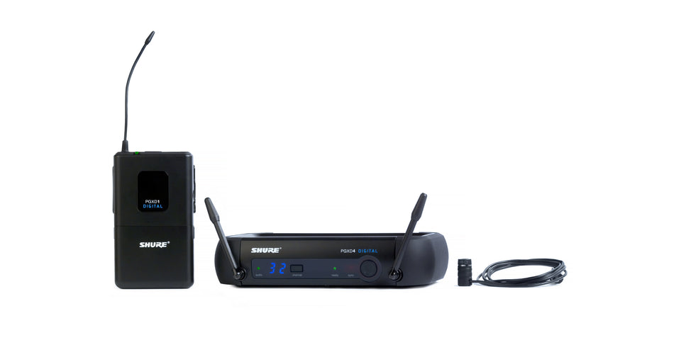 Shure PGXD14/85 Digital Lavalier Wireless System With WL185 Cardioid Micophone - 900MHz