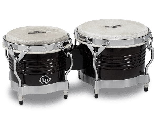 LP M201-BKWC Matador Wood Bongos - Black Wood/Chrome