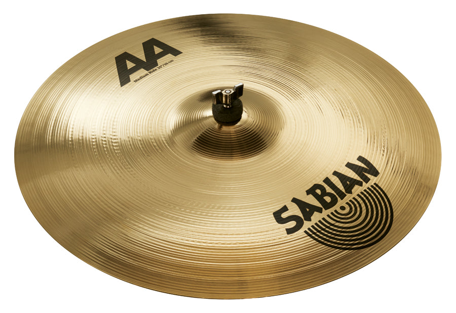 "Sabian 20"" AA Medium Ride Cymbal Brilliant Finish"