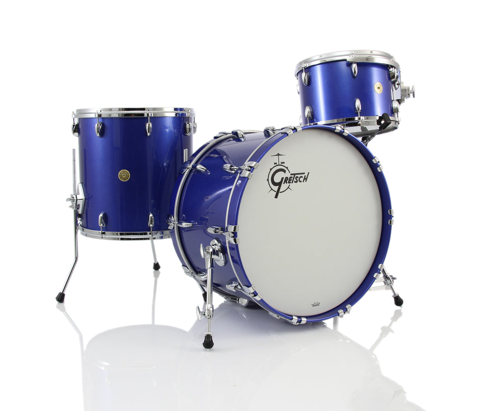 Gretsch USA CUSTOM 3 Piece Drum Set Shell Pack - Mystic Blue Gloss