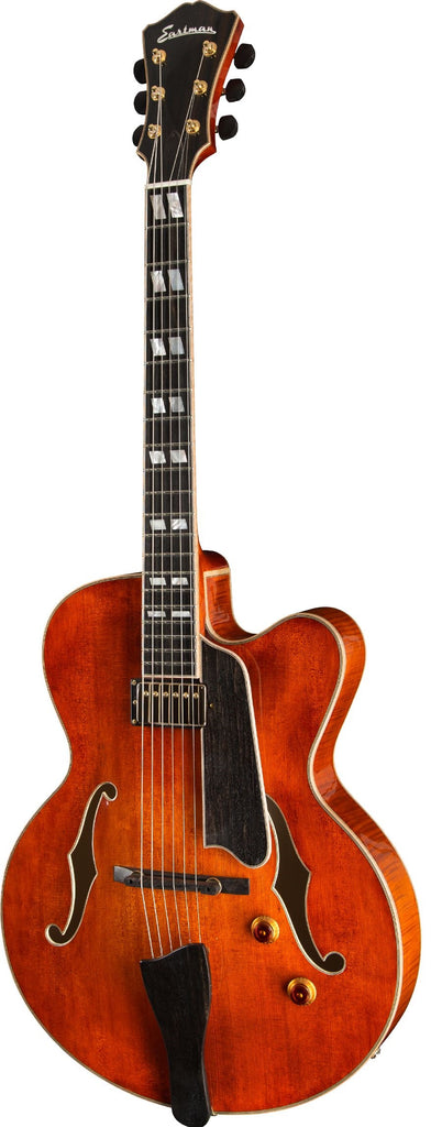 Eastman AR580CE Archtop Electric Guitar - Ebony Fingerboard, Honey Burst