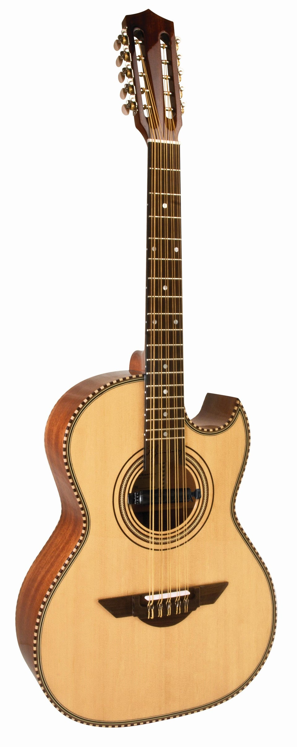 H. Jimenez El Estandar LBQ1E Natural Acoustic/Electric Bajo Quinto