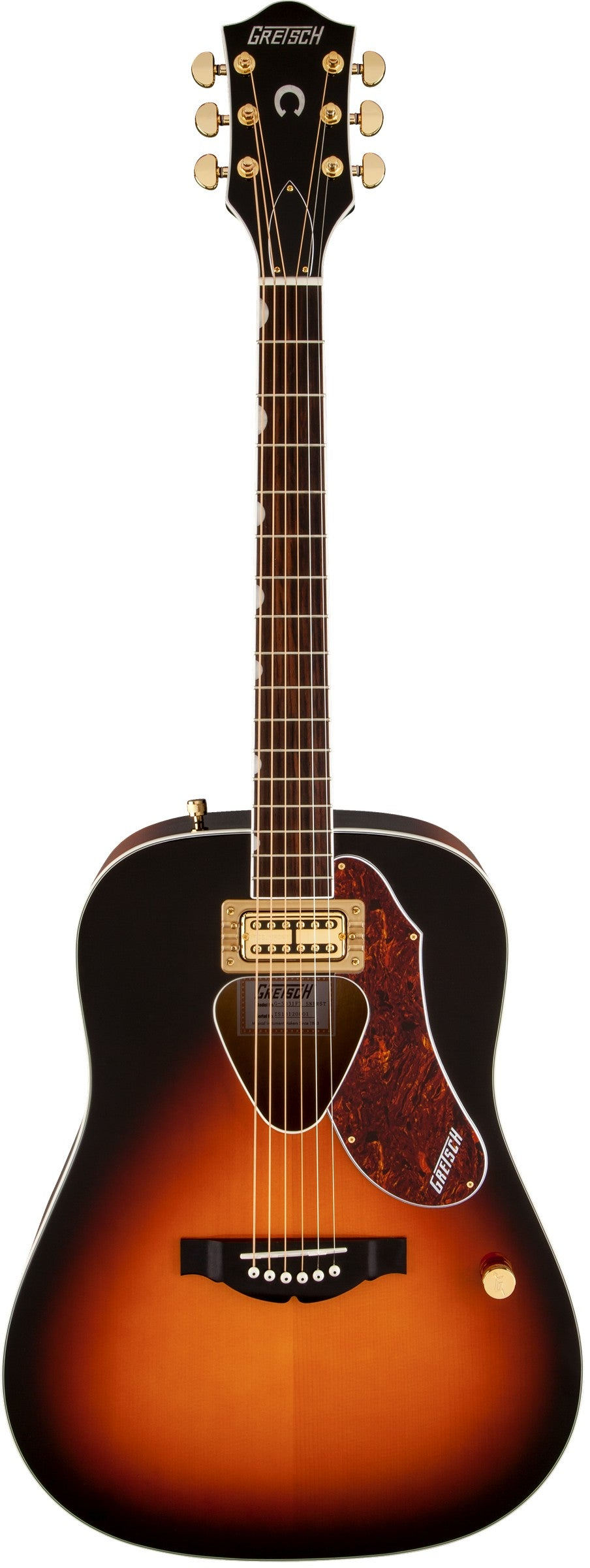 Gretsch Rancher Dreadnought Acoustic Electric Guitar w/ Fideli'Tron Pickup - Sunburst