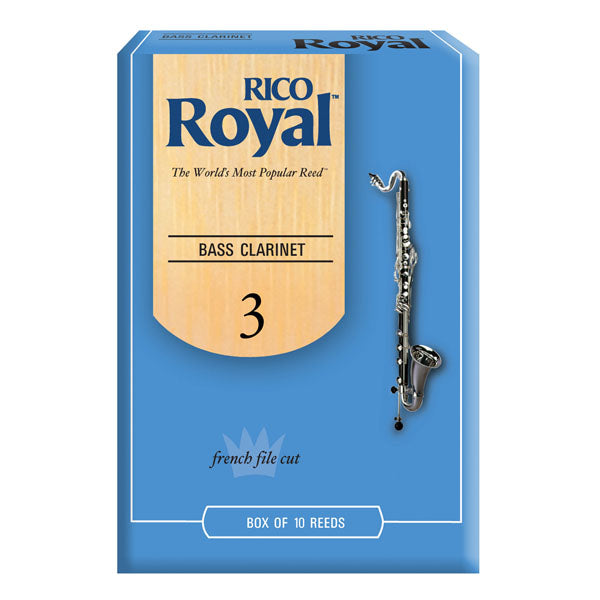Rico Royal REB1030 Bass Clarinet #3 Reeds - Box of 10