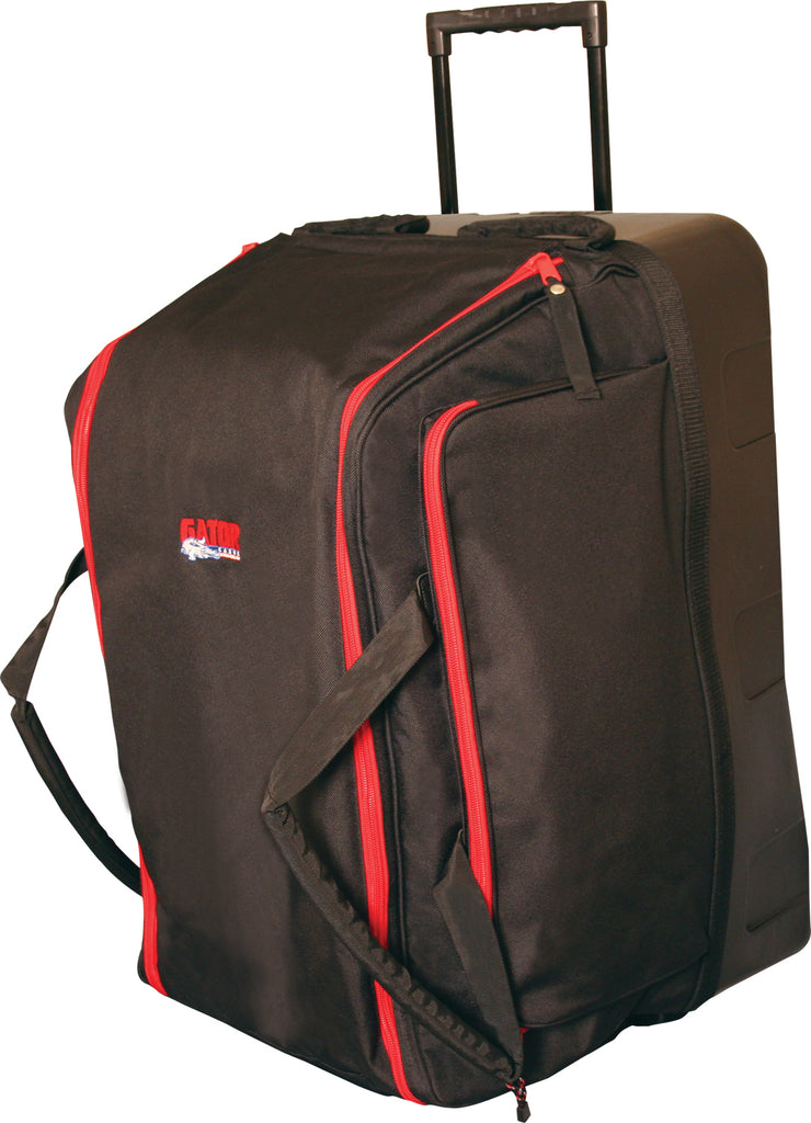 Gator GPA-777 Speaker Bag With Reinforced Molded Bottom, In-Line Wheels And Pull-Out Handle