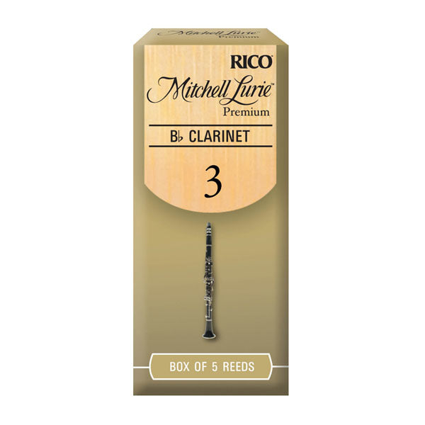 Mitchell Lurie B-Flat Clarinet #3 Premium Reeds, Box Of 5