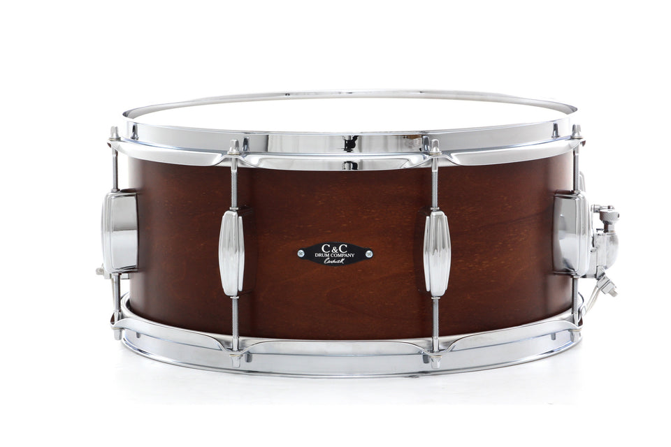 "C&C 14"" X 6.5"" Player Date II Snare Drum - Brown Mahogany"
