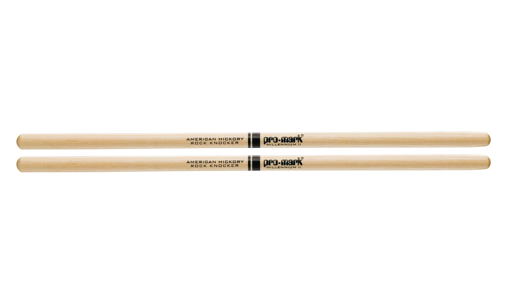 Promark TXRKW Hickory RK Rock Knocker Wood Tip drumstick