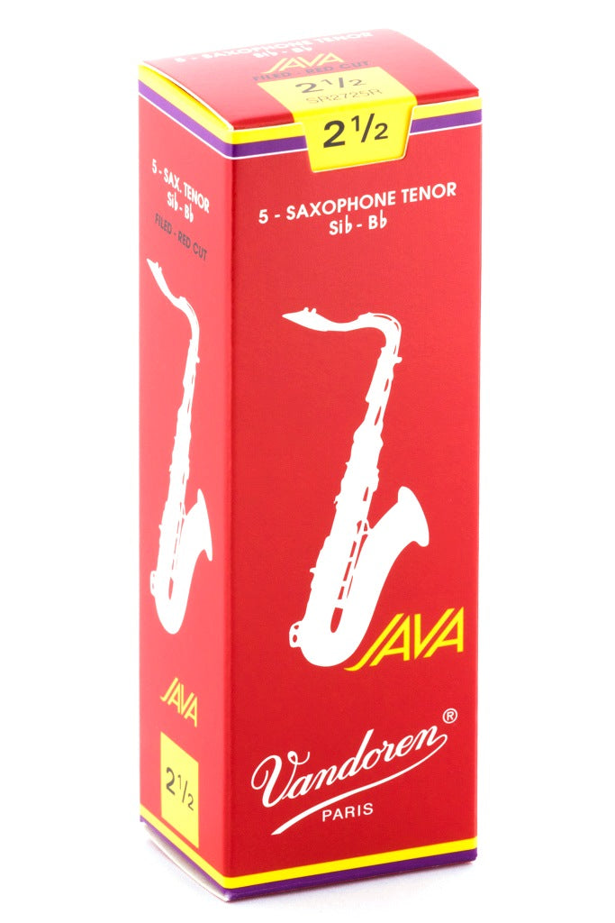 Vandoren Java Red Tenor Sax Reeds, #2.5 - Box of 5