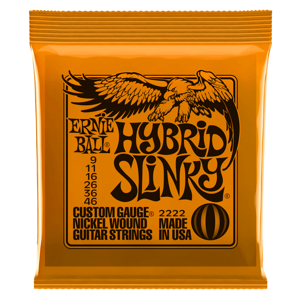 Ernie Ball Hybrid Slinky Nickel Wound Electric Guitar Strings .09-.46