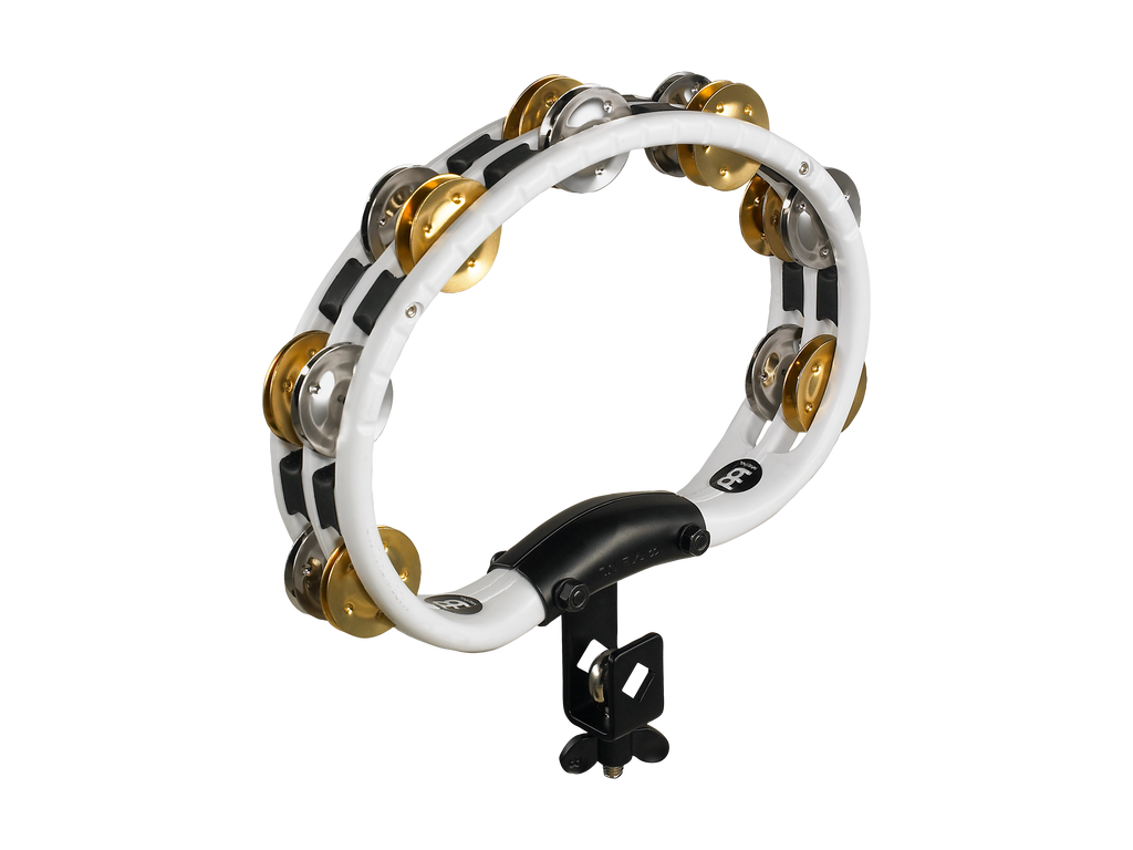 Meinl TMT2M-WH Mountable Recording Combo ABS Tambourine Dual Alloy Jingles 2 Rows